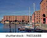 view of albert dock  liverpool  ...
