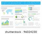 big vector set of infographic... | Shutterstock .eps vector #96024230
