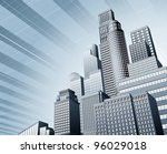 abstract blue corporate city... | Shutterstock . vector #96029018