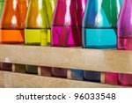 Different Colorful Vases With...