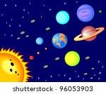 solar system cartoon | Shutterstock . vector #96053903