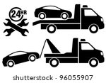 car towing truck icon.   Shutterstock .eps vector #96055907