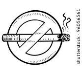 doodle style nonsmoking sign in ... | Shutterstock .eps vector #96056561