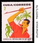 cuba   circa 1969  a stamp... | Shutterstock . vector #96057176