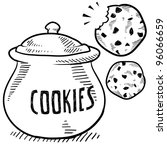doodle style cookie and cookie... | Shutterstock .eps vector #96066659