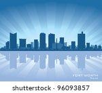 fort worth skyline illustration ... | Shutterstock .eps vector #96093857