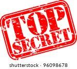 grunge top secret rubber stamp