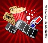 illustration of  movie theme... | Shutterstock .eps vector #96099146
