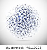 image of the molecular... | Shutterstock .eps vector #96110228