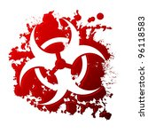 a biohazard symbol reversed out ... | Shutterstock .eps vector #96118583
