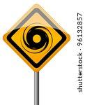 hurricane vector sign  eps10... | Shutterstock .eps vector #96132857