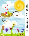 beauty colorful vector... | Shutterstock .eps vector #96132920