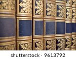 row of antique books - stock photo
