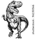 tyrannosaurus dinosaur vector...   Shutterstock .eps vector #96150566
