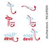 devil tail   angel halo