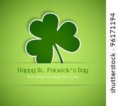 shamrock  clover design ... | Shutterstock .eps vector #96171194