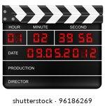 movie clapper board on a white... | Shutterstock .eps vector #96186269
