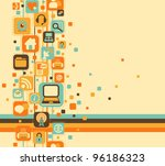 abstract composition of web... | Shutterstock .eps vector #96186323