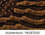 American Flag Wooden Backgroun...