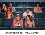 group of seven people laughing... | Shutterstock . vector #96188984