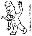 man waving cartoon | Shutterstock . vector #96191090