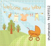 welcome new baby greeting card