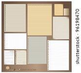 vector set  vintage paper... | Shutterstock .eps vector #96198470