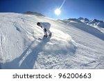 skier skiing downhill on fresh... | Shutterstock . vector #96200663