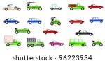 set of different cars | Shutterstock . vector #96223934