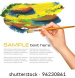 abstract watercolor background... | Shutterstock .eps vector #96230861