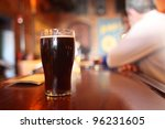 glass of dark beer on the... | Shutterstock . vector #96231605