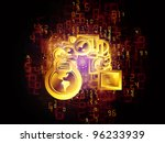 composition of communication... | Shutterstock . vector #96233939