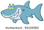 Happy Shark Cartoon Character....