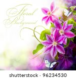Abstract Spring Floral...