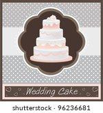 wedding pink cake decorated... | Shutterstock .eps vector #96236681