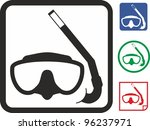mask and snorkel vector icon | Shutterstock .eps vector #96237971