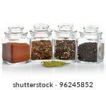 Spices Assortment In The Glass...