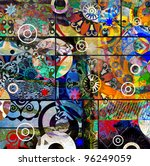abstract digital painting ... | Shutterstock . vector #96249059