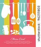 recipe card. vector illustration | Shutterstock .eps vector #96255803
