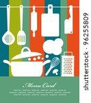 Recipe Card. Vector Illustration