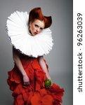 Romantic Portrait Of Red Hair...