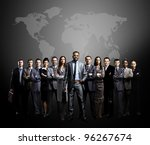 business people team with world ... | Shutterstock . vector #96267674
