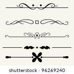 vector set  calligraphic... | Shutterstock .eps vector #96269240