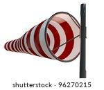 windsock isolated on white background - stock photo