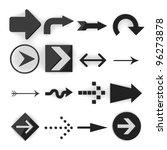3d render of cartoon arrows | Shutterstock . vector #96273878