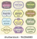 vector set vintage labels | Shutterstock .eps vector #96286880