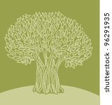 green olive tree vector... | Shutterstock .eps vector #96291935