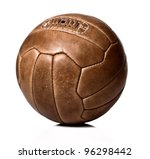 Image Of Retro Leather Soccer...