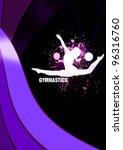 gymnastics background with... | Shutterstock . vector #96316760