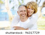 portrait of a happy mature... | Shutterstock . vector #96317729